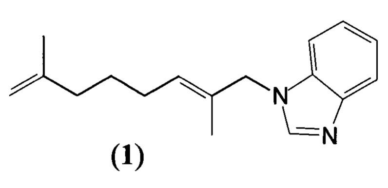 Способ получения 1-(2,7-диметил-2,7-октадиен-1-ил)бензимидазола