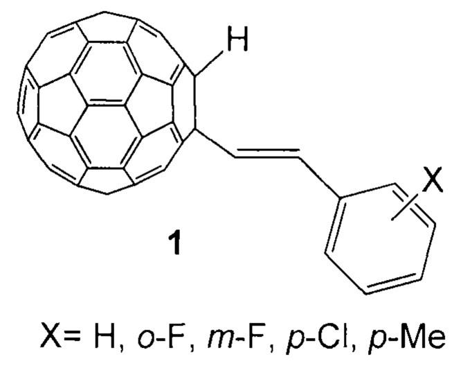 Способ селективного получения замещенных 1-стирил-2-гидрофуллеренов