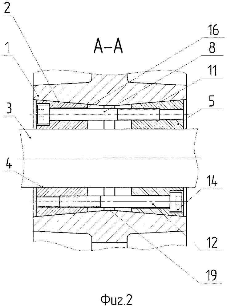 Способ достижения соосности двух конических внутренних поверхностей ступицы