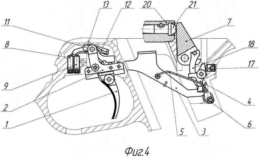 Ударно-спусковой механизм спортивного пистолета