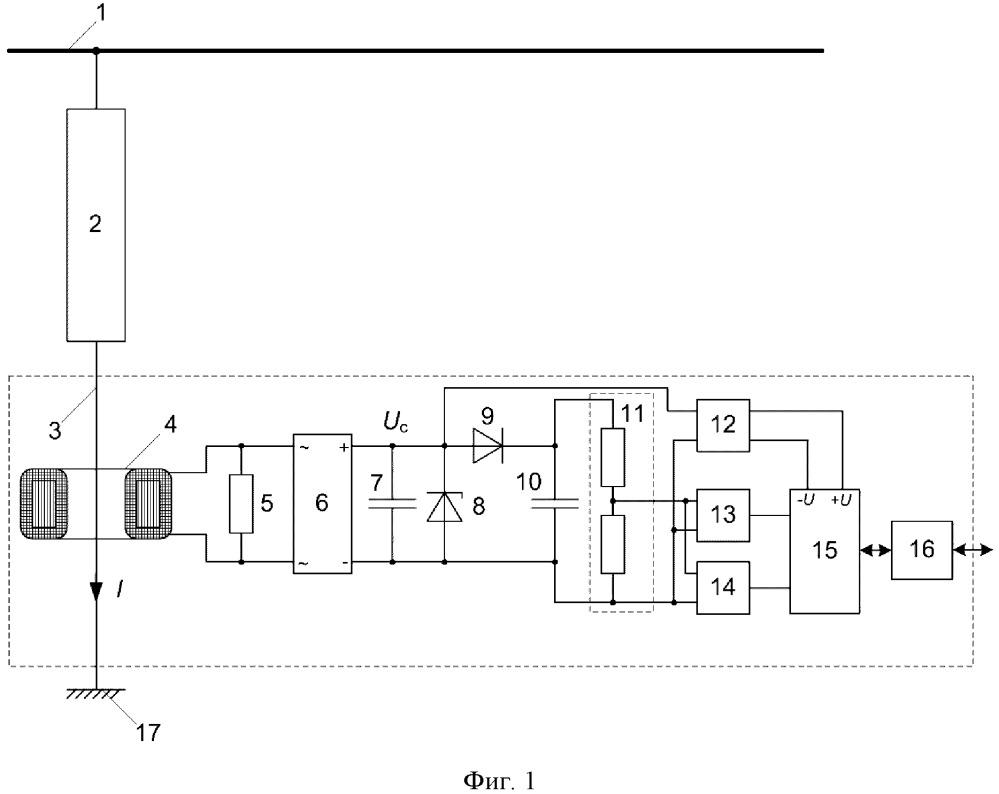 Счётчик импульсов тока через ограничитель перенапряжения