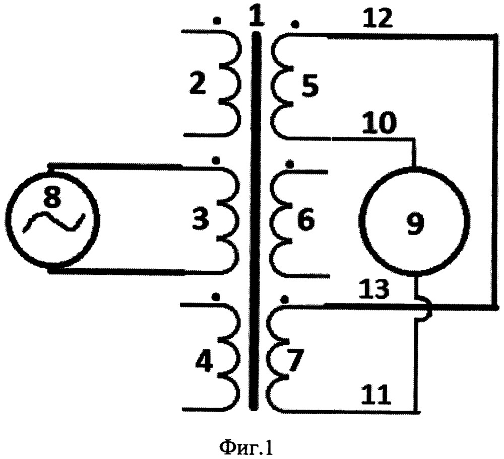Дифференциальный способ обнаружения витковых замыканий в трехфазном трансформаторе