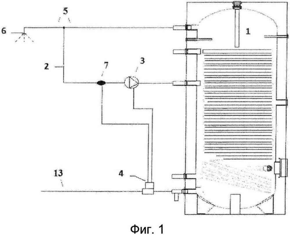 Способ работы установки приготовления горячей воды для хозяйственно-бытовых нужд и установка приготовления горячей воды для хозяйственно-бытовых нужд