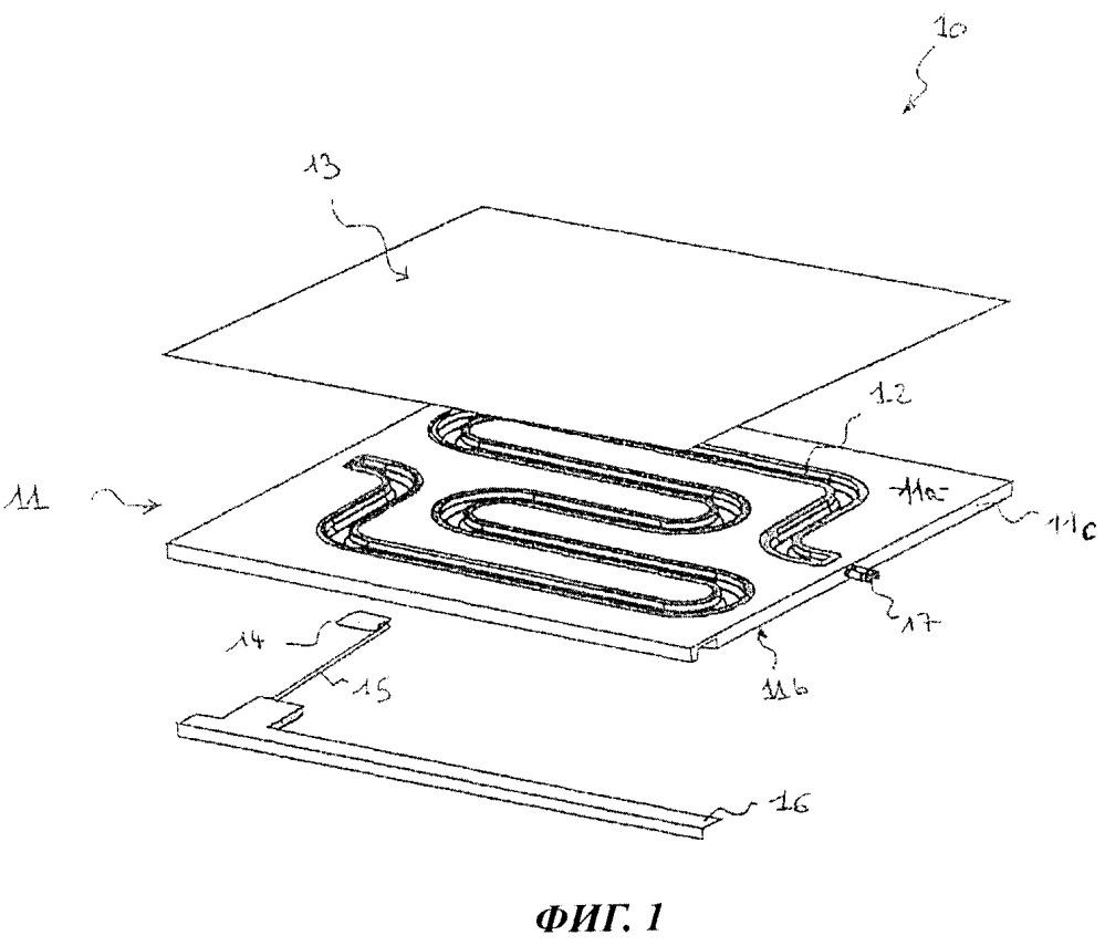 Строительная панель, предназначенная для изготовления обогревающих и/или охлаждающих стен зданий