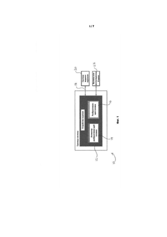 Устройство гашения, форсунка для устройства гашения и способ