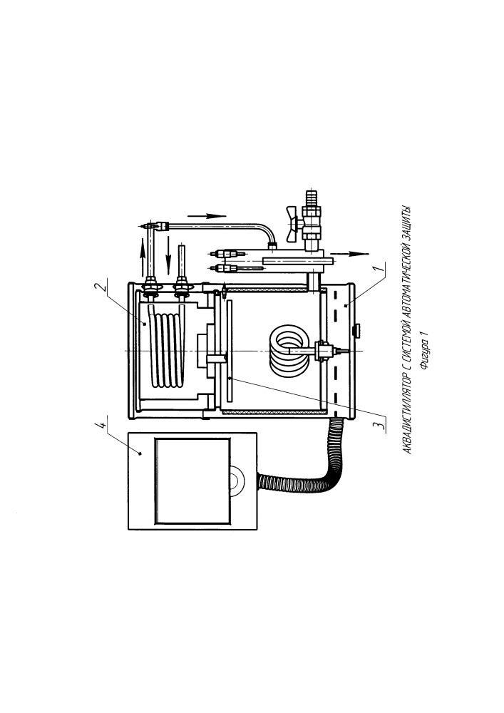 Аквадистиллятор с системой автоматической защиты