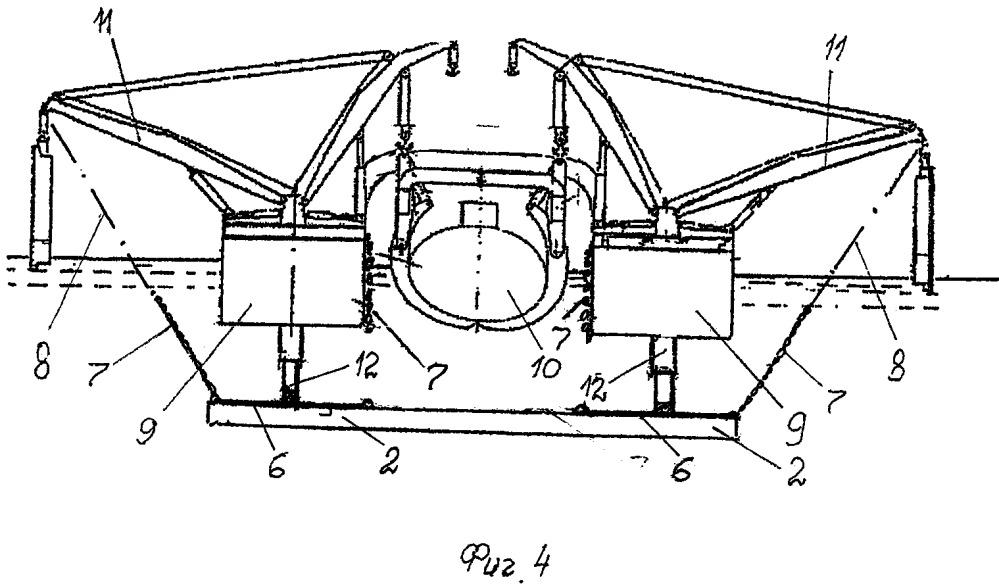 Мобильный судоподъемный модульный комплекс-док