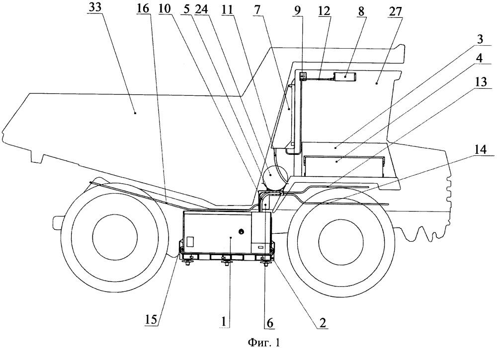 Комплект газоиспользующего оборудования для самосвала белаз-7540а