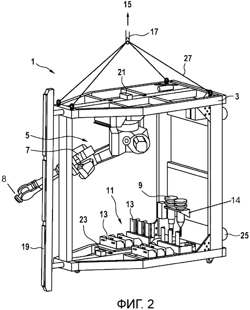 Автоматизированное монтажное устройство для осуществления установки подъемного устройства в шахте лифта