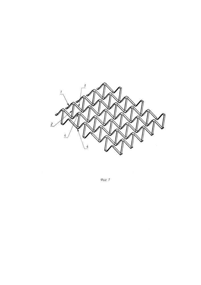 Заполнитель с ферменной объемной структурой многослойной композитной панели