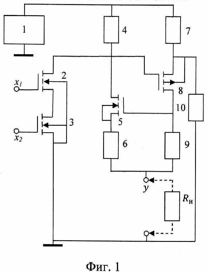 Триггерный логический элемент и на полевых транзисторах