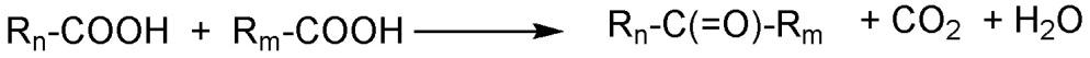 Способ декарбоксилирующей кетонизации жирных кислот или производных жирной кислоты