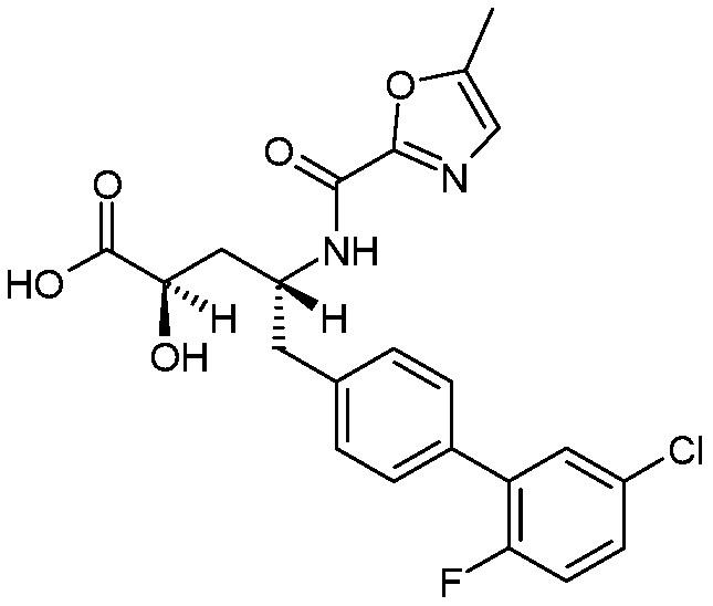 (2r,4r)-5-(5′-хлор-2′-фторбифенил-4-ил)-2-гидрокси-4-[(5-метилоксазол-2-карбонил)амино]пентановая кислота