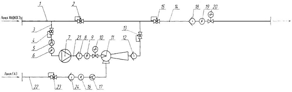 Установка для поверхностной перекачки газожидкостной смеси