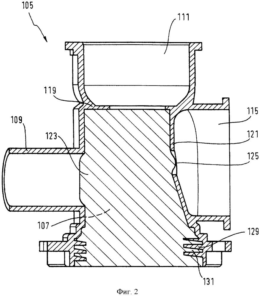 Прибор для ухода за бельем, содержащий насос для стирального раствора