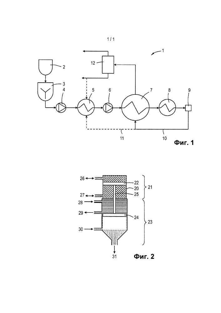 Способ и устройство для обработки суспензии, содержащей органические компоненты