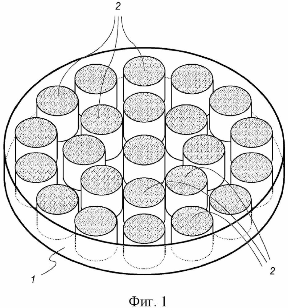 Обрабатываемый посредством cad/cam диск для изготовления волоконных опорных вкладок