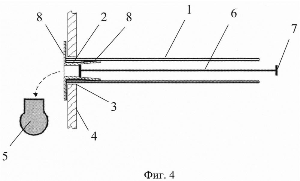 Способ установки цилиндрического элемента в отверстие в гибкой стенке при одностороннем доступе и устройство для его реализации