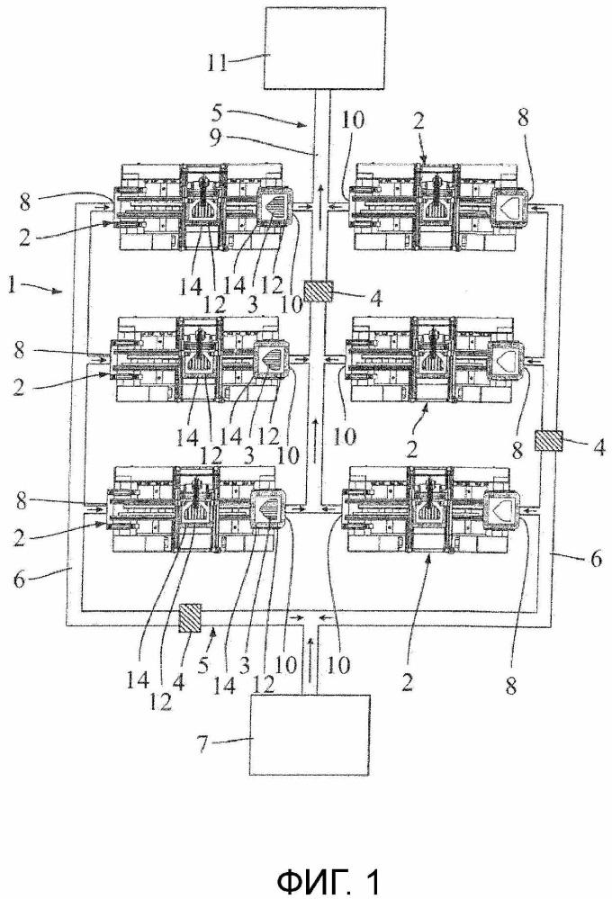 Система для изготовления конструктивных элементов из волокнистого композиционного материала
