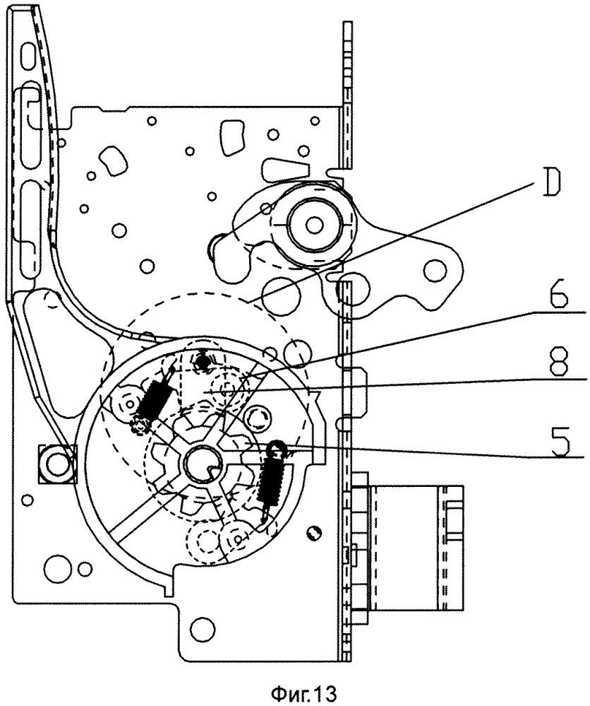 Противозажимное устройство энергонакопительной рукоятки универсального автоматического выключателя