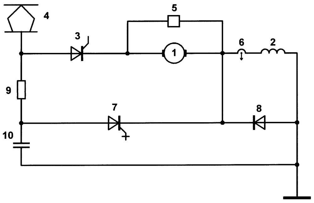 Устройство для регулирования скорости тягового электродвигателя