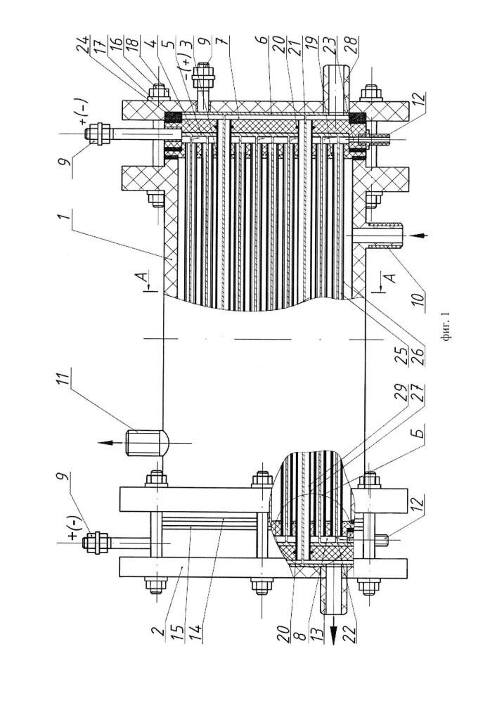 Электробаромембранный аппарат трубчатого типа