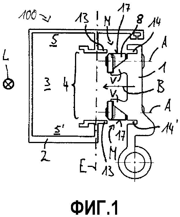 Система с фурнитурным элементом и профилем