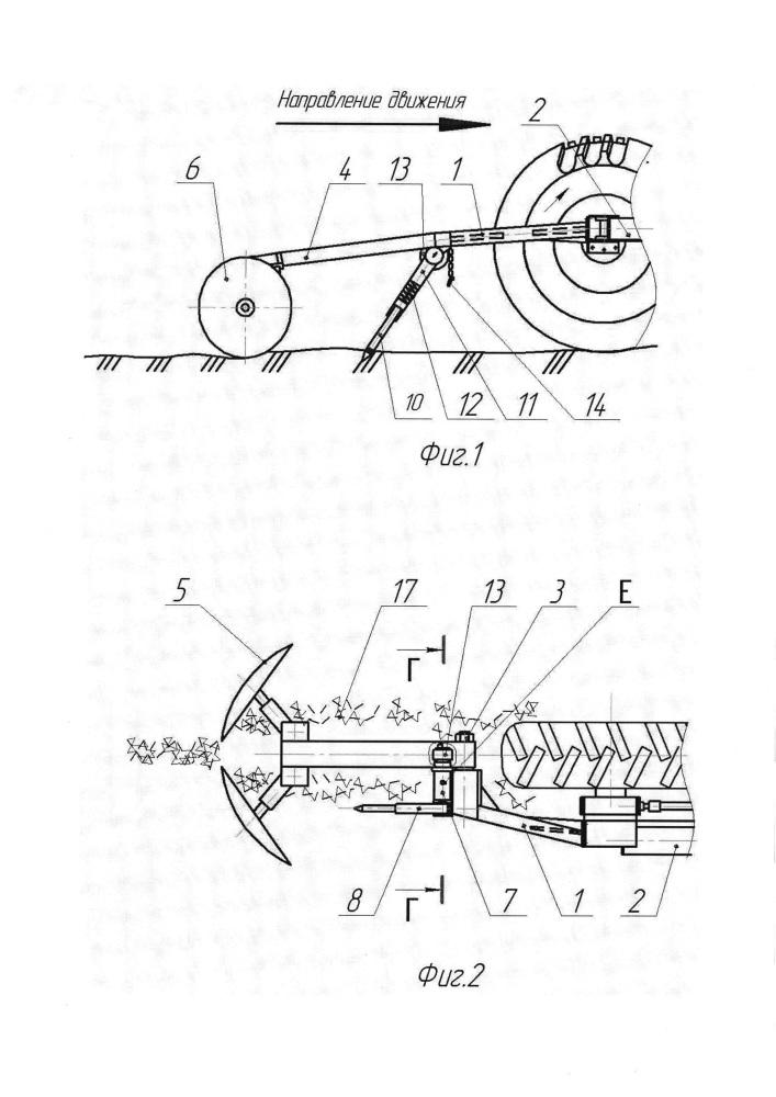 Устройство для заравнивания колеи
