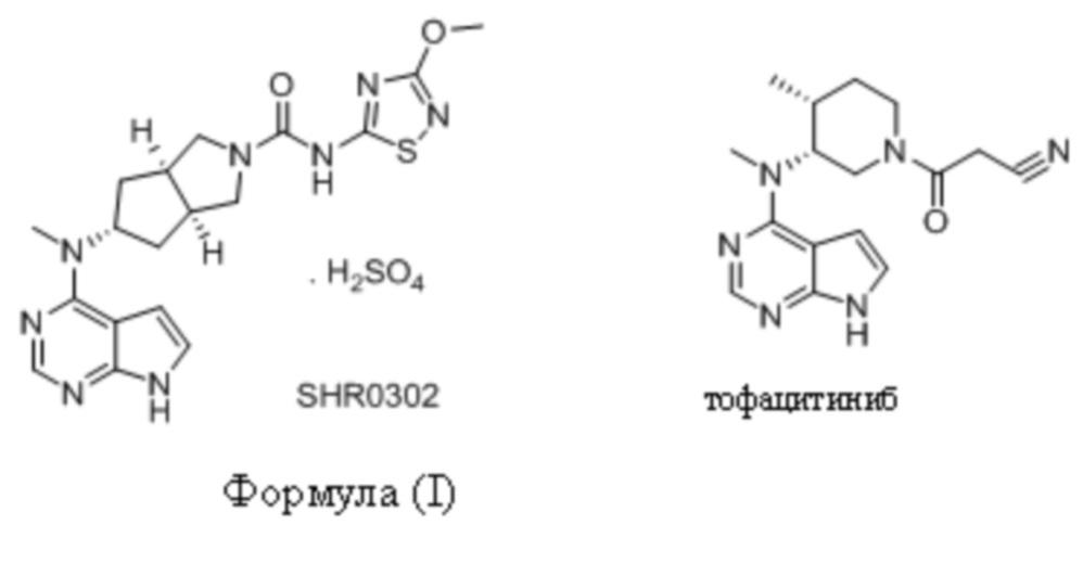 Кристаллическая форма бисульфатного ингибитора jak-киназы и способ ее получения