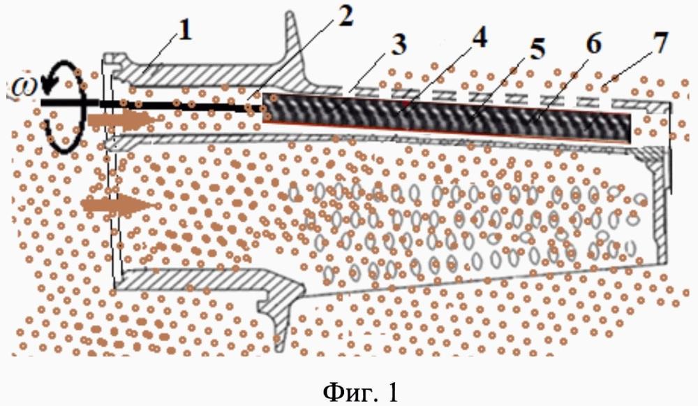 Способ обработки перфорационных отверстий и внутренней полости лопатки турбомашины