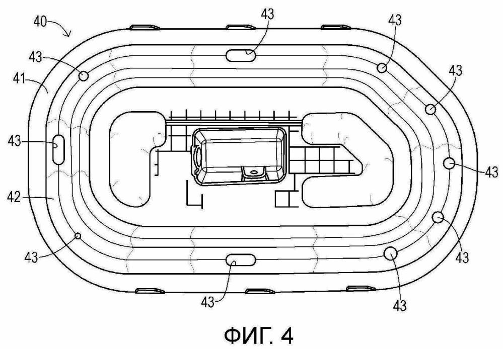 Активный буфер для автомобильного транспортного средства и надуваемый эластичный баллон для активного буфера