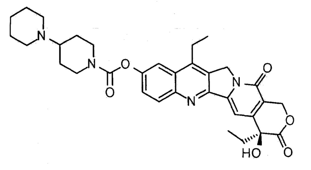 Твёрдый состав для перорального применения, содержащий иринотекан, и способ его получения