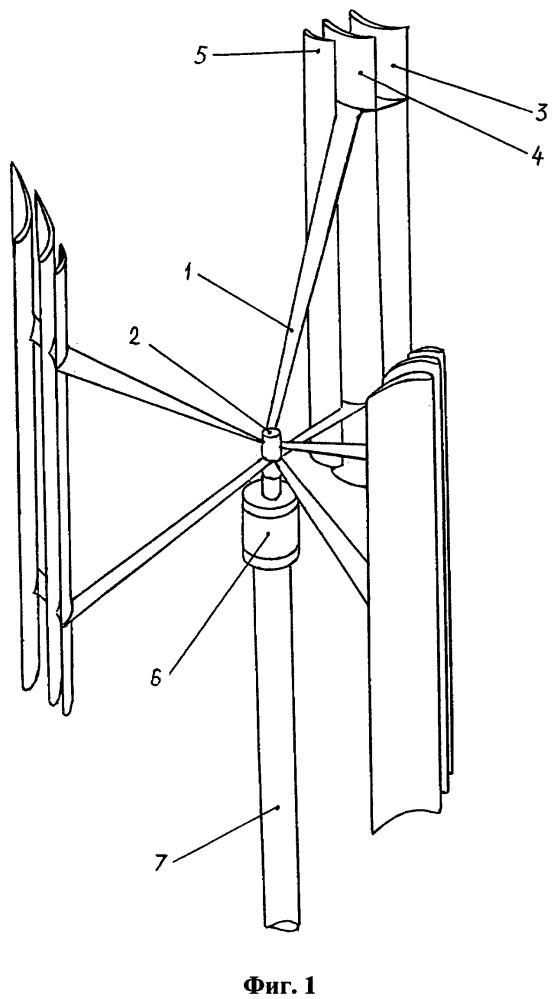 Ветроэнергетическая установка ортогонального типа