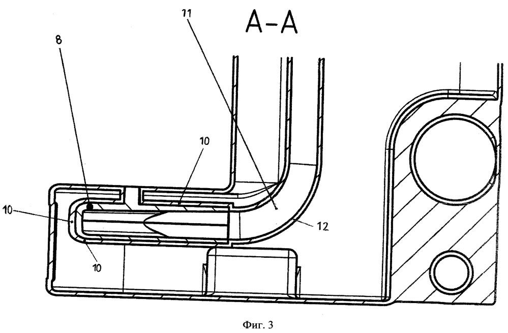 Пластмассовая емкость с направляющим поток компонентом