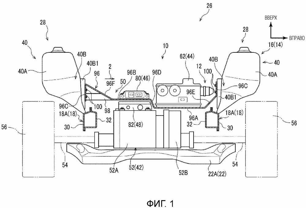 Конструкция силового модуля для транспортного средства