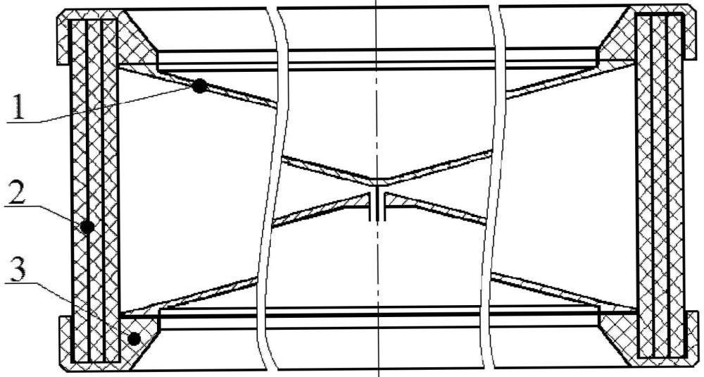 Биконическая антенна с поляризатором