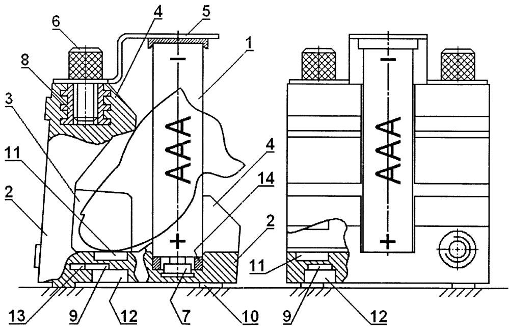 Указательное устройство мышь с быстрозаменяемым аккумулятором