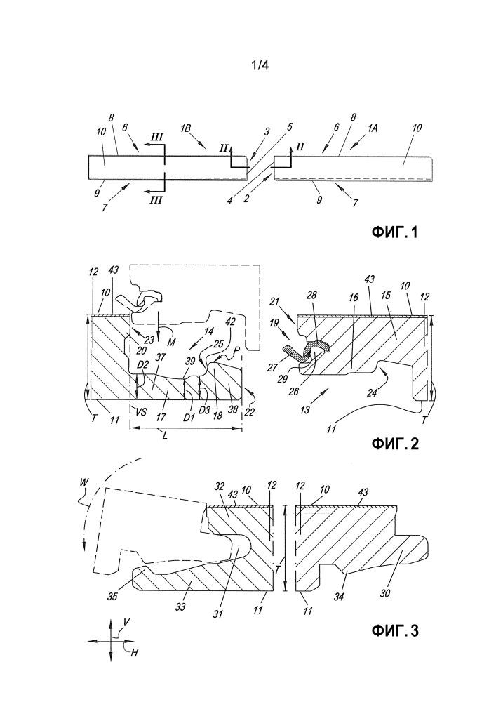 Набор панелей пола, образующий напольное покрытие