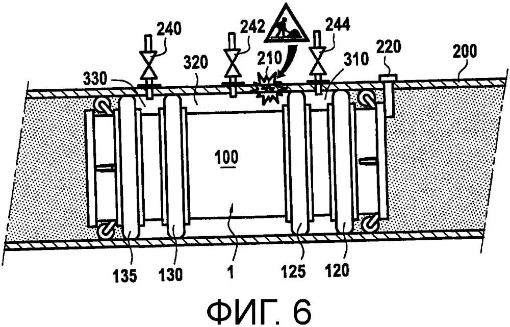 Инструмент для работы на стенке трубопровода и соответствующий способ