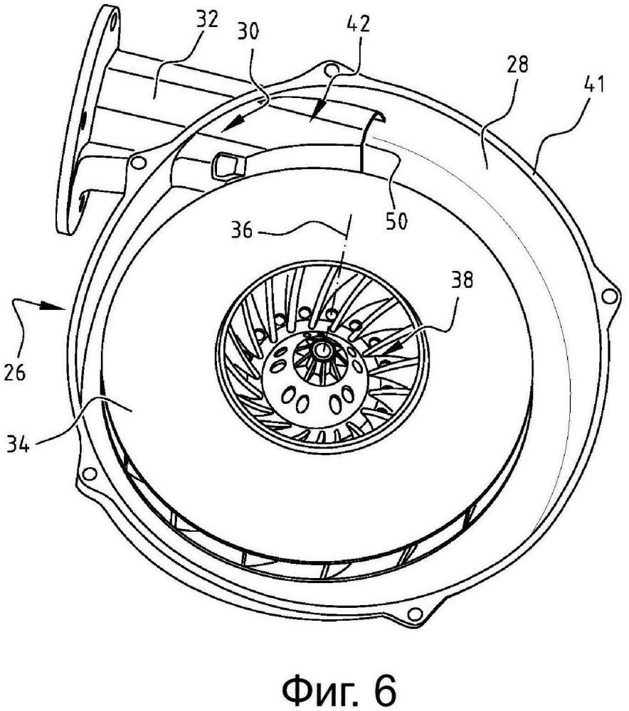 Центробежный вентилятор и нагревательное устройство, снабженное таким центробежным вентилятором