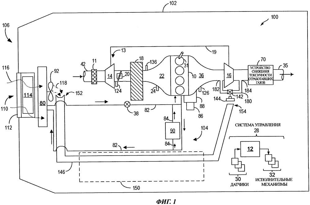 Система турбокомпрессора и способ (варианты) охлаждения регулятора давления в системе турбокомпрессора