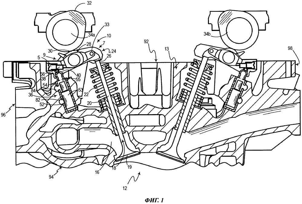 Способ выведения воздушных включений из гидравлического контура деактивации клапана двигателя