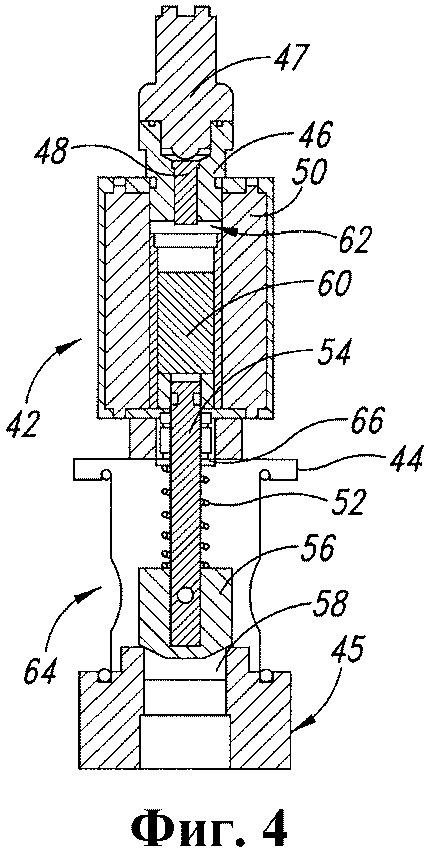 Распылительный узел для дорожно-строительной машины, снабженный клапанами прямого действия