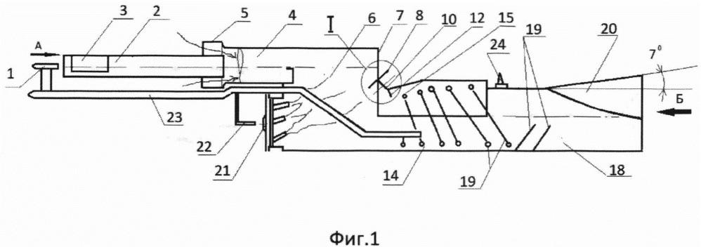 Форсированный двухконтурный эжекторный пульсирующий воздушно-реактивный двигатель