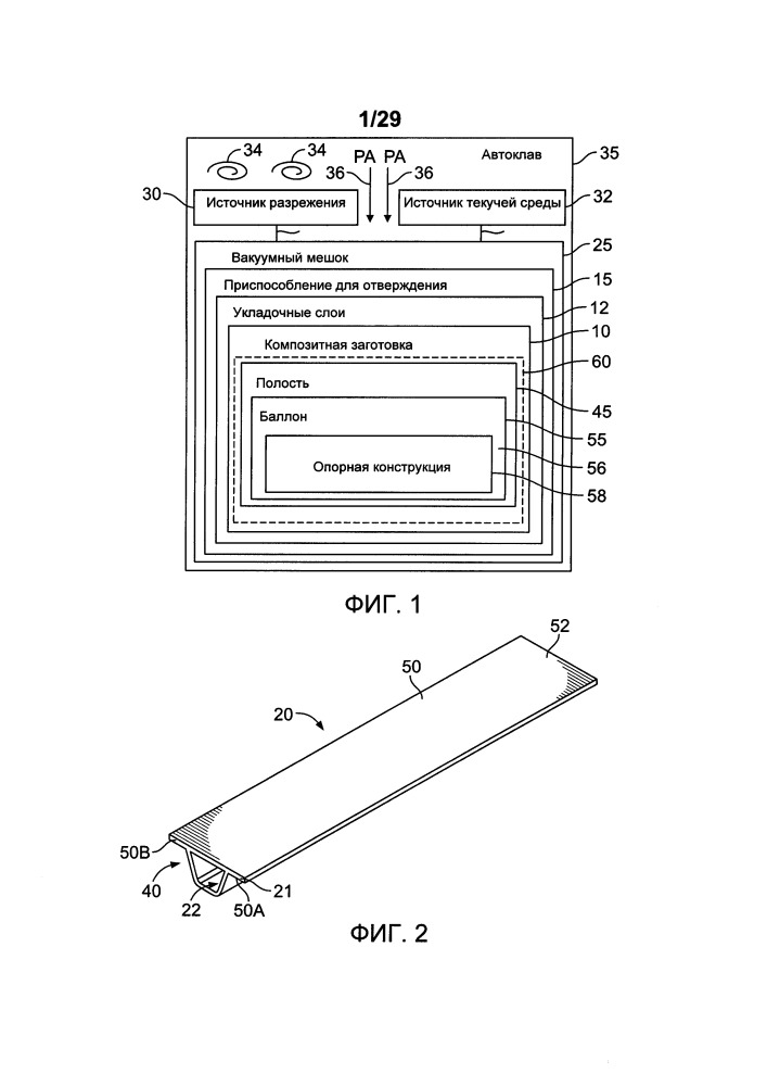 Баллонная система для отверждения композитных деталей