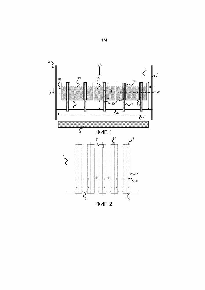 Устройство фильтрации и распределения для каталитического реактора