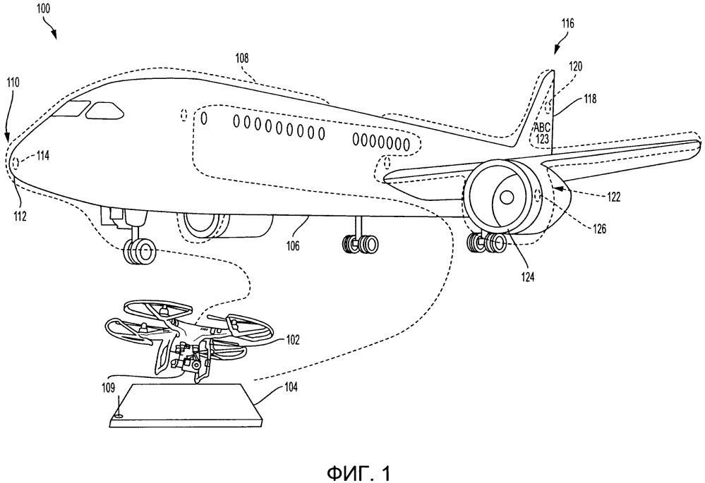 Извлечение информации о воздушном летательном аппарате с использованием бортовых меток радиочастотной идентификации