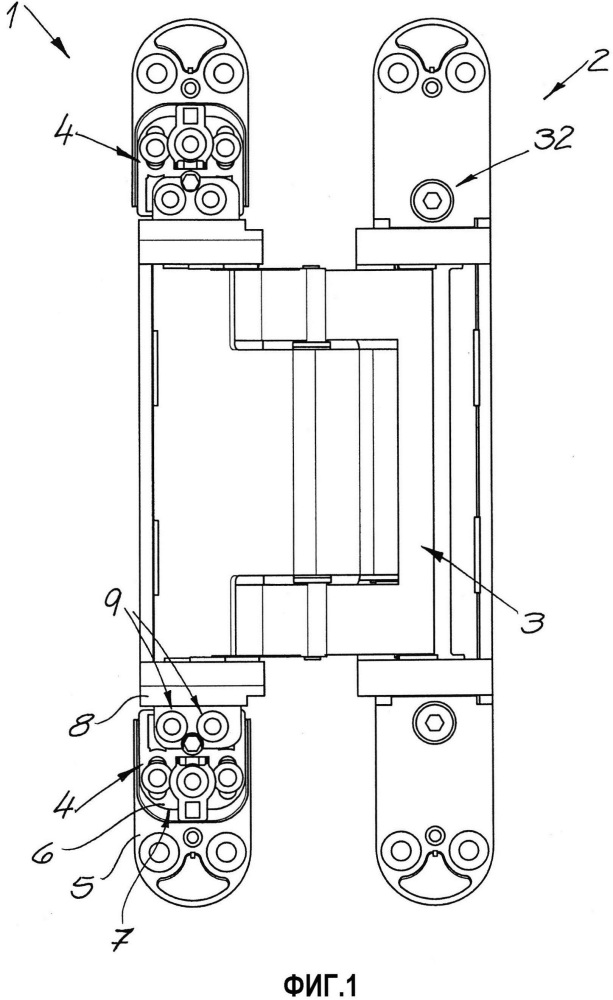 Петлевой базирующий элемент скрытой петлевой системы для дверей или окон и дверная петля с петлевым базирующим элементом