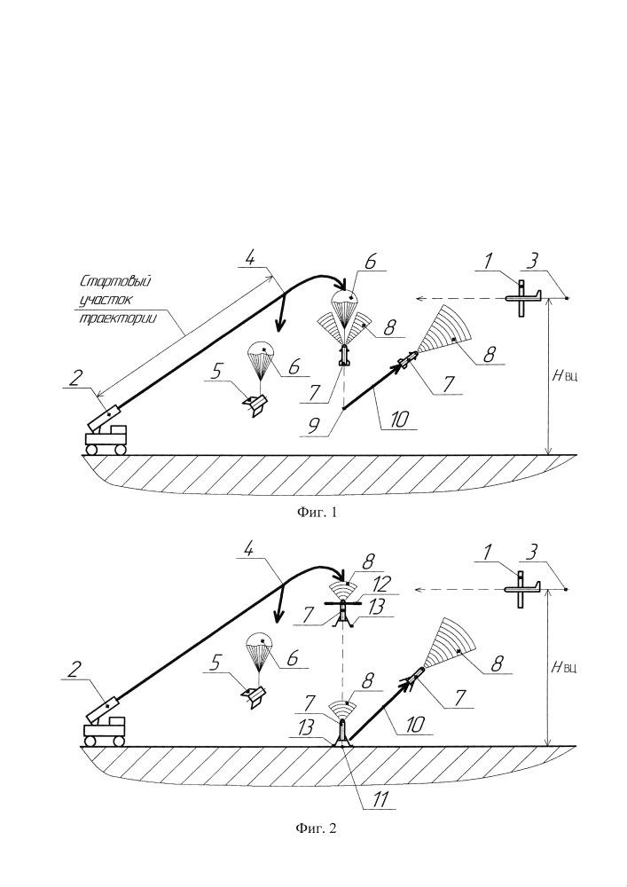 Способ обнаружения и поражения воздушной цели ракетным комплексом