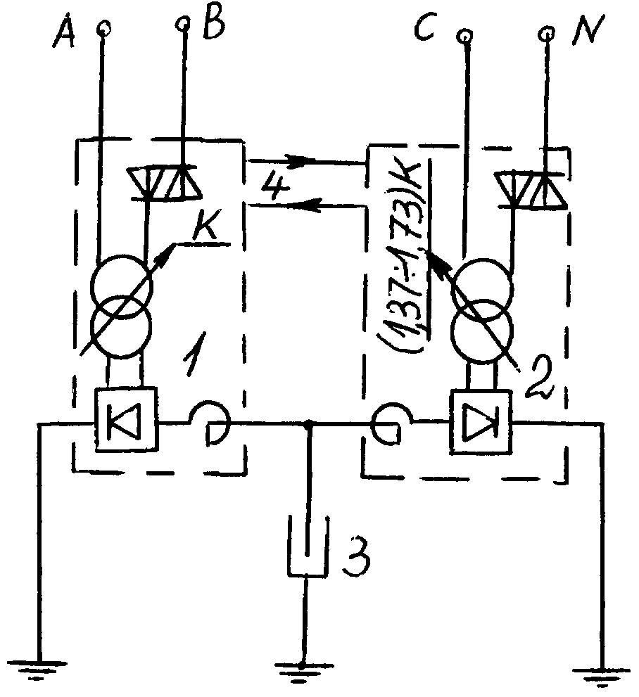 Устройство системы электропитания электрофильтра газоочистки